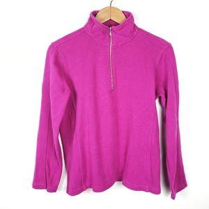 ORVIS Purple Half Zip Mock Neck Pullover Popover M
